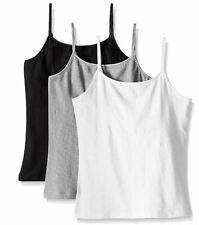 Trimfit Girls' Racerback Crop Top (Pack of 2), White/Black/Grey, X-Larg