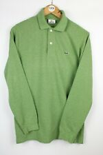 Mens LACOSTE Devanlay Long Sleeve Polo Shirt Green | Small Size 3