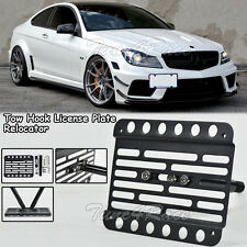 For 08-14 Mercedes Benz C63 AMG Front Bumper Tow Hook License Plate Bracket