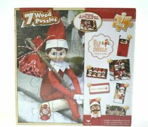 The Elf on the Shelf A Christmas Tradition 7 Wood Puzzles 2014 Christmas Set