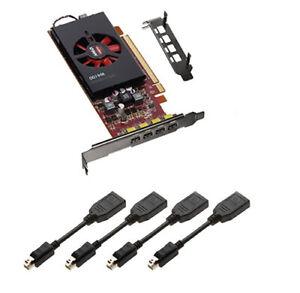 AMD FirePro W4100 2GB GDDR5 4Mini DisplayPorts Video Graphics Card Low Long Brac