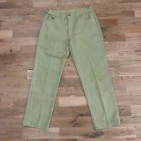 Vintage 60's Levi's Big E Sta Prest Straight Beige Denim Jeans 33 X 29 Talon Zip