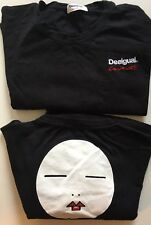 Desigual Couture Black T-shirt Quality Back Design Limited Edition LARGE