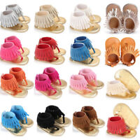 Kids Boys Girls Sandals Tassel Anti-Slip Crib Shoes Soft Sole Crib Shoes