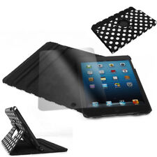 APPLE IPAD MINI CASE COVER+SCREEN PROTECTOR SWIVEL POLYURETHANE BLACK WAKE SLEEP