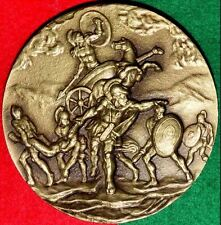 WAR TROJAN / GREEK HEROE ACHILLES / BRONZE MEDAL BY AMARAL