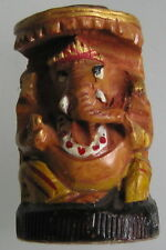 Ganesha wood sculpture handcrafted statue Elephant god carving Ganesh INDIA