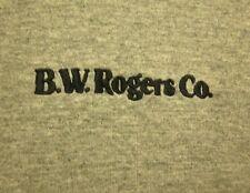 BW ROGERS embroidery Akron T shirt logo Hydraulic Equipment lrg ringer tee OHIO