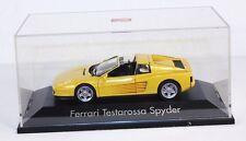 Herpa Ferrari Testarossa Spyder, gelb, 1:43, in Präsentationsbox    #ab1166