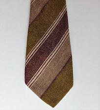 Irish kipper tie pure wool tweed vintage 1980s Emerald Isle Gilt Edge striped