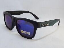 BioHazard Optics Sunglasses BLUE & BLACK Wood Grain Design Unisex Men New Shades