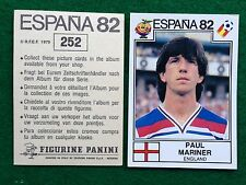 ESPANA 82 1982 n 252 INGHILTERRA MARINER Figurina Sticker Calciatori Panini NEW
