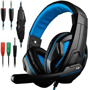 Gaming Headset,DLAND 3.5mm Wired Bass Stereo Noise Isolation Gaming Headphones w