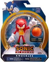 SONIC THE HEDGEHOG 4 INCH KNUCKLES ACTION FIGURE BENDABLE FLEXIBLE WAVE 3 JAKKS