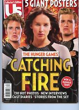 Us WEEKLY MAGAZINE 2013, THE HUNGER GAMES CATCHING FIRE, 5 GIANT POSTERS INSIDE