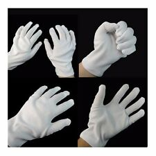 1 Pair 2 Pcs White Work Jewellery Handling Costume Party Cotton Soft Thin Gloves