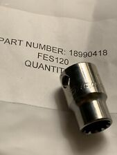 "Snap-On Tools 3/8"" Drive 3/8"" HEX #12 SPLINE Shallow Socket FES120B NEW"