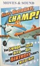 BIRTHDAY CARD for KID DISNEY SOUND - MUSIC Plays and Propeller Spins Hallmark