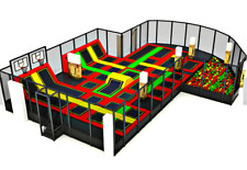 2,000 sqft Commercial Trampoline Park Dodgeball Climb Gym Inflatable We Finance