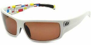 Ex Display BOLLE Polarized Sunglasses TETRA White Blocks/ Brown Polarised 11364