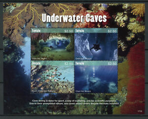 Tuvalu Tourism Stamps 2017 MNH Underwater Caves Chan Hol Diving Fish 4v M/S