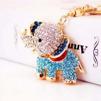 Lovely Crystal Elephant Pendant Keychain Car Snap Hook Keyring Key Ring Chain