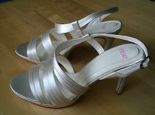 New Size 5 Flirtini by Else for Rainbow Club Ivory Satin Wedding Sandal