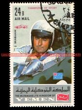 BRABHAM Jack Pilote YEMEN Timbre Poste Collection Moto 1969 Stamp Stempel Sello