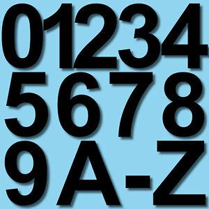 4cm schwarz Aufkleber Hausnummer Wunsch Wahl Nummer Zahl Ziffer Buchstabe ABC