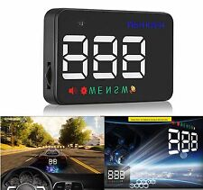 A5 GPS HUD Head Up Display Km/h MPH Digital Speedo Speed Warning Alarm