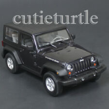 Welly 2007 Jeep Rubicon with Top 1:24 Diecast Model Car 28489 Dark Grey Metallic