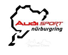 Pegatina Adhesivo AUDI Circuito Nurburgring 14 cms Sticker Aufkleber Autocollant