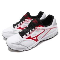 Mizuno Maximizer 21 Wide White Red Black Men Running Shoes Sneakers K1GA1900-61