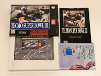 IMMACULATE Complete Game Tecmo Super Bowl III Final Edition Super Nintendo SNES