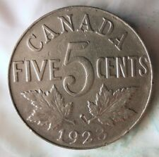 1923 CANADA 5 CENTS - Scarce Date - FREE SHIP - BARGAIN BIN #172