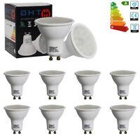 10X Ampoule Led lumière Spot Projecteur Blanc Chaud Lampe SMD Dimmable GU10 6W