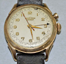 Vintage Vulcain CRICKET Grand Prix ALARM Watch Men's 10K GF Swiss 17j for Repair