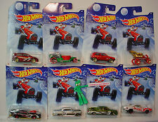 2014 Hot Wheels Walmart Holiday set 8☆CAMARO,CIVIC,VW GOLF,TITAN☆Christmas☆Santa