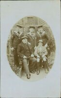 3 Sailors + older man & a Boy Scout RP 1912, F. Seager,  Manningtree     D4/478