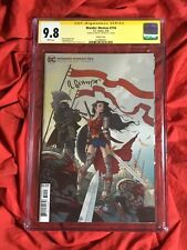 CGC SS 9.8~WONDER WOMAN #754~CARD STOCK VARIANT~SIGNED BY RAFAEL GRAMPA~DC