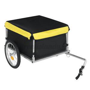 Foldable Bike Trailer Stroller 2-Wheel Carrier Luggage Pet Trailer Dog Jogger