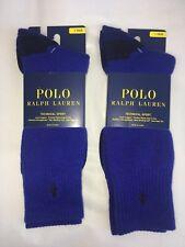 2 Pair POLO Ralph Lauren Performance Wool Blend Technical Sport Long Crew Socks