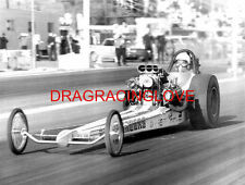 """""""RAMCHARGERS"""" Leroy Goldstein 1969 """"SlingShot"""" Top Fuel Dragster PHOTO! B/W"""