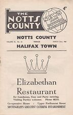 Notts County v Halifax Town, Division 3,  23/3/1961