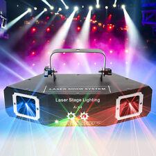 4 Len Red Green Blue Beam Laser Light DMX DJ Party Club Bar Show Stage Lighting