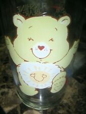 Care Bears Pizza Hut Funshine Sunshine Yellow Bear Collectors Libbey Glass 1983