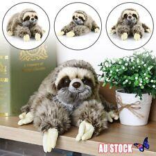 """Cute 13.7"""" Sloth Plush Animals Lying Three Toed Cuddly Soft Stuffed Toy"""