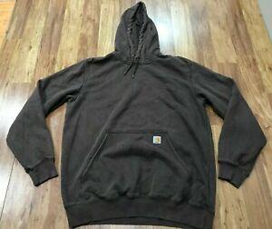 MENS LARGE TALL - Carhartt 100615 Paxton Heavyweight Pullover Hooded Sweatshirt