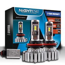 Nighteye Pair 70W 9000LM H11 H8 H9 LED Headlight Kit Fog Light Bulb DRL White CA
