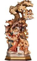 Crèche Raffaello CM 20 Sculpté en Bois de La à Val Gardena Décoré à la Main